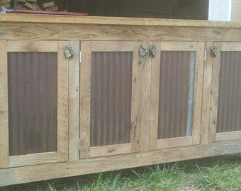 YOUR Custom Rustic Barn Wood Credenza, Sideboard Dresser, Cabinet FREE SHIPPING-CRBCS1000D
