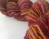 Rusted Rainbow - handspun yarn, worsted weight