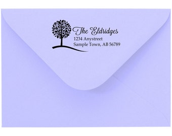 Personalized Self Inking Return Address Stamp - self inking address stamp - Custom Rubber Stamp R100