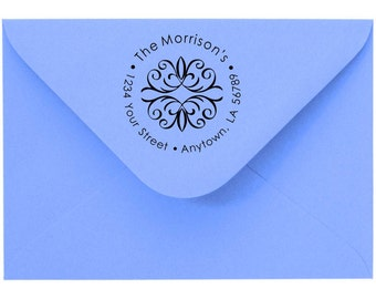 Personalized Custom Made Return Address and Name Rubber Stamps R109