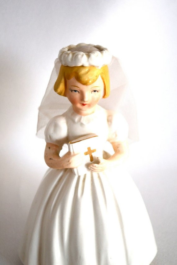 Vintage First Holy Communion or Confirmation Doll with Real Veil