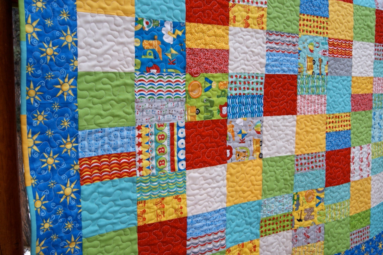 Quilt Baby Patchwork Handmade Apple Jack Fabrics Lap Throw