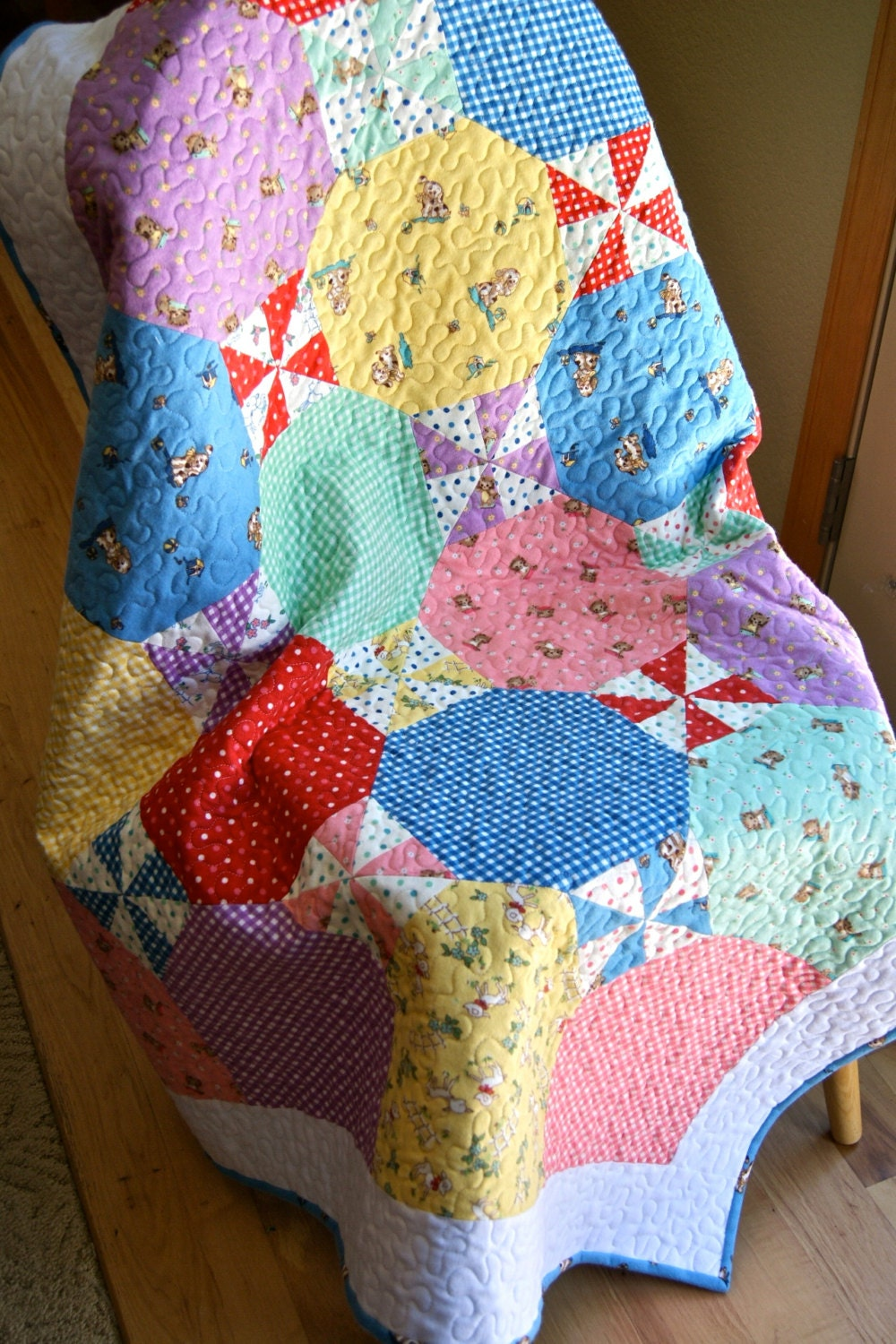 Quilt Baby Flannel Peachy Keen By Moda Lap Throw