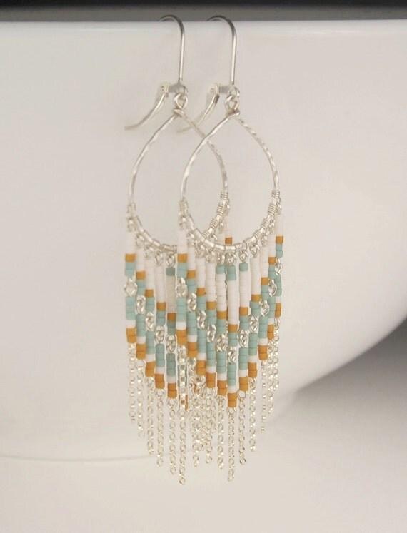 On Sale Long Beaded Earrings Chandelier Earrings In