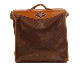 Louis Vuitton Luggage Vintage 1970s Suit Case Garment Bag