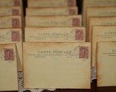 Wedding Place Cards, Vintage Post Cards Placecards,  Escort Cards ,Destination Wedding,  Tent Table Place Cards, Qty 100