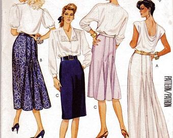 Vintage McCalls Sewing Misses Skirt 3469