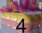 Sidewalk Paint Mini-Stack Party Favors -Set of 4 - Princess Colors (pink, purple, yellow)