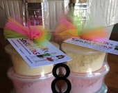 Sidewalk Paint Mini-Stack Party Favors -Set of 8 - Pink Lime-onade (pink, yellow, green)