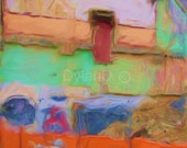 Digital painting image--- instant download--- modern abstract expressionist Tacoma Building by DylanD