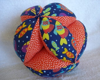Funky Fish Dot Easy-Catch Baby/Toddler Clutch Ball