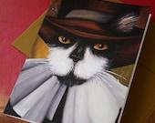 Cat Pilgrim Card Puritan Black and White Cat CLEARANCE Greeting Card