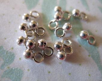 Shop Sale.. 25 50 100 pcs, Sterling Silver Earring Necklace Dangles Drops Pendants Charms, BABY BALL, 5x2 mm, wholesale artisan vsb103 solo