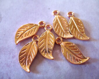 Shop Sale.. 25 pcs, Rose Gold LEAF Metal Blanks Charm Pendant Bulk, 12x4 mm, custom personalized stamping leafbrass BLANKLEAF