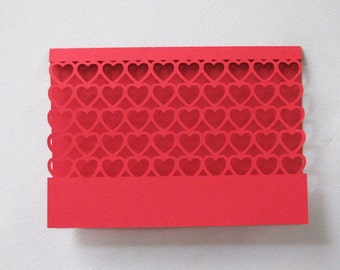 Valentines Day Card Die cut Blank inside