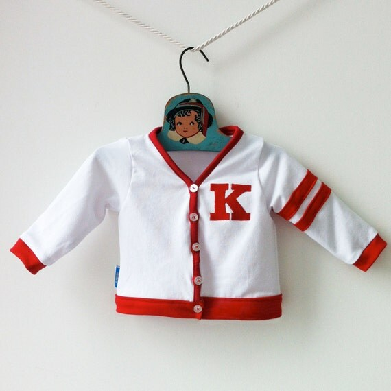Custom Baby Varsity Sweater, Monogram Personalized Letterman Jacket, Letter Sweater Grandpa Cardigan Baby Boy Clothes, Baby Gift Ideas