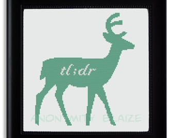 Teal Deer Cross Stitch Pattern