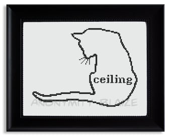 Ceiling Cat Cross Stitch Pattern