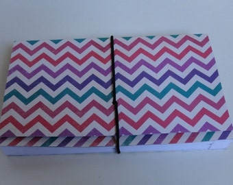 Coupon Organizer  Accordion Pocket Book Chevron Stripe