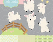 """Instant Download -Little Lambs, """"Woolsey"""" digital clipart and paper pack"""