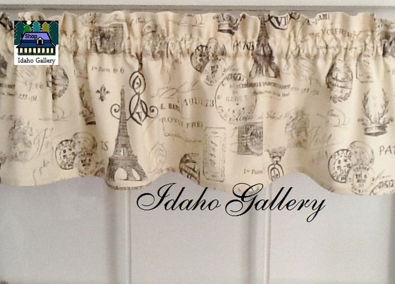 Free Shipping French Script On Cr 232 Me Window Valance 14