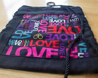 Love and Peace Crossbody Shoulder Bag
