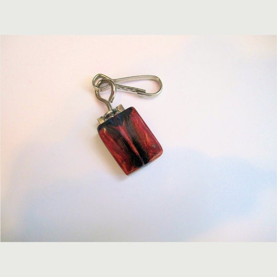 Zipper Pull, Faux Petrified Wood, Arthritis Accessory