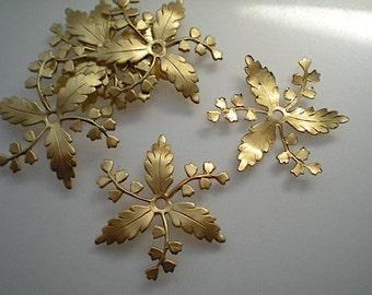 6 brass leaf wheels