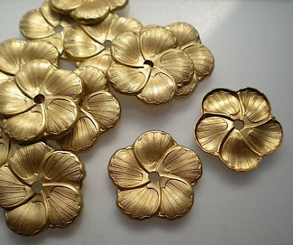 12 Brass Mirror Rosettes No 8