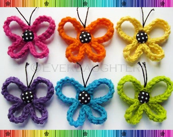 PATTERN-Crochet Loopy Butterfly-Detailed Photos