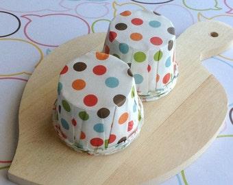 25 Mixed Polka Dot Baking Cups