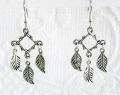 Hanging Leaves Pierced or Clip On Earrings