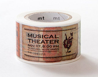 mt ex Washi Masking Tape - Vintage Ticket