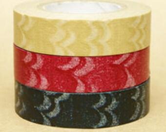 Zwillinge Washi Masking Tape - Wave - Set 3 - Slim