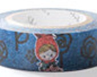 Shinzi Katoh Masking Tape - Little Red Riding Hood & Black Flowers