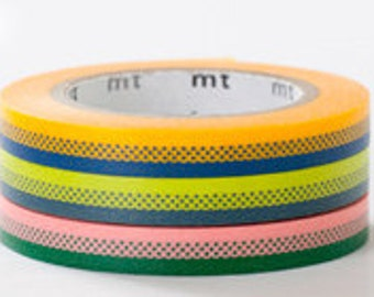 mt Washi Masking Tape - Stripes & Dots - Slim - Deco Set 3 - B