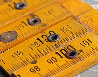 5 vintage ruler cuts, just in case you could use them, coolvintage, wooden ruler, unique, Feb 10