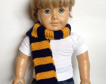 Made to Order - Navy Blue & Gold Scarf for Doll or Baby