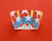 Small Stars Super Hero PDF Printable Party Cupcake Wrappers  DIY