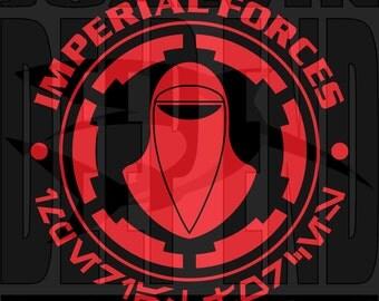 Star Wars IMPERIAL GUARD Royal Guard T-Shirt Screen Printed last jedi