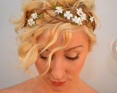 The Trellis Crown - natural flower headband