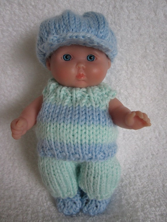 Knitting Pattern Boy Doll : Knit Pattern Berenguer Baby Doll Lets Play Boys Set by ...
