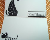 Thank You card set -  Dogs Featured - hand stamped