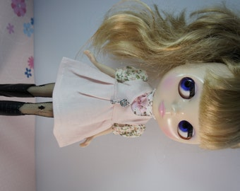 BLYTHE OR PULLIP - Pink 2 way Halter or Jumper Skirt with Bling Bling Key Accessories