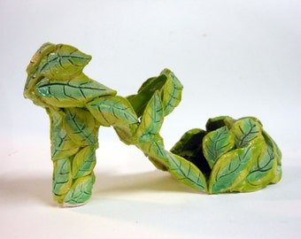 Going Green Ceramic Leaf Shoe