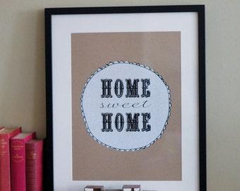 Home Sweet Home Limited Edition Screenprint