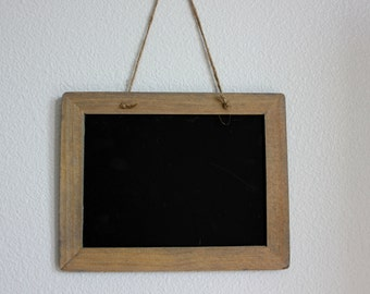 Rustic Hanging Chalkboard with Twine Hanger - 4 x 6 - Chalkboard - Wedding Decor - Chalkboard Sign