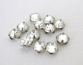 Vintage Bead Rose Montees Crystal Clear Glass Jewels Sew On 5mm vgb0597 (12)