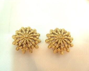 Vintage Textured Earrings by Monet