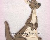 Kangaroo Applique Embroidery Design